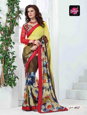 INDIAN STYLE GEORGETTE  SAREE @ Rs1020.00