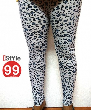 Modern Stretchable Legging with Ankle Zipper - Animal Print @ Rs360.00