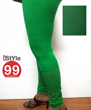 Stretchable Lace/Net bottom Leggings@ Rs.360.00