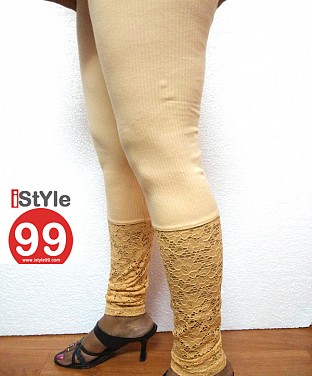Stretchable Lace/Net Bottom Leggings @ Rs360.00