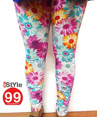 High-end European Stretchable Print Leggings-Multi @ Rs360.00
