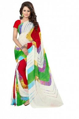 New Printed Multi Color Heavy Nazneen Casual Saree@ Rs.988.00