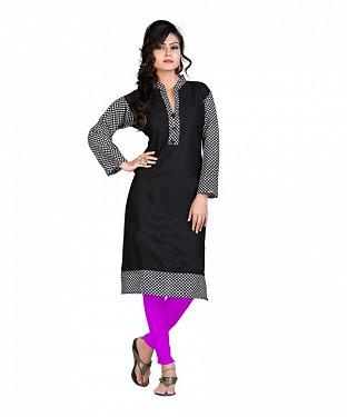 Cotton Printed Black Kurti @ Rs420.00