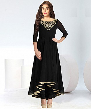 Mind Blowing Designer Black Colour Kurti @ Rs617.00