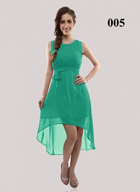 New Design Of Light Green Georgette Semi-stitched Kurti Buy Rs.555.00