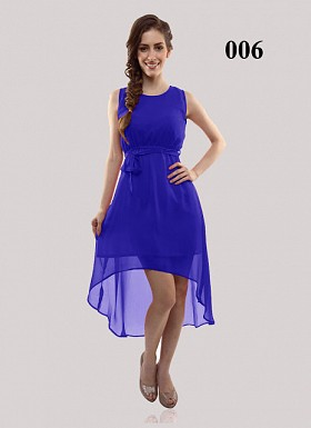New Design Of Blue Georgette Semi-stitched Kurti @ Rs555.00