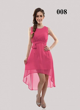 New Design Of Pink Georgette Semi-stitched Kurti @ Rs649.00