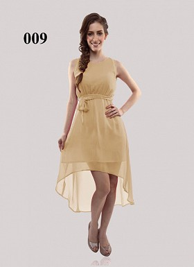 Cream New Design Georgette Semi-stitched Kurti @ Rs649.00