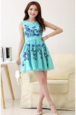 Designer Sky Blue Colour Semi Stitched Western Wear @ Rs927.00