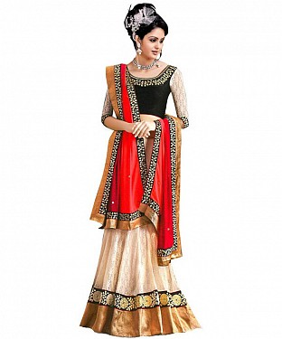 SIMPLY SIMPLE Cream LEHENGA @ Rs1508.00