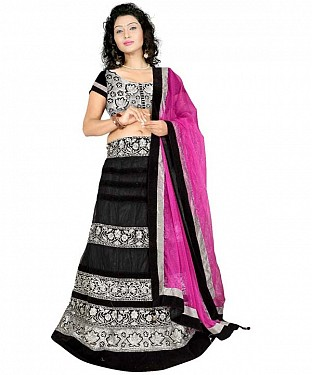 STYLISH Black  LEHENGA@ Rs.1434.00