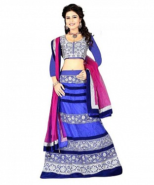 STYLISH Blue LEHENGA @ Rs1434.00