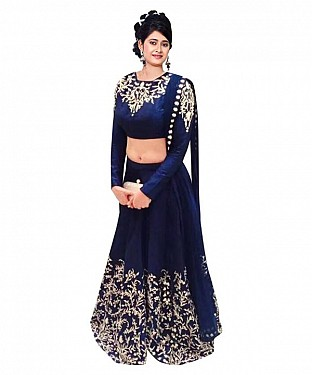 Blue HEAVY  LEHENGA@ Rs.581.00