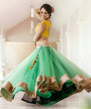 BEST COLLECTION  NET  DESIGNER LEHENGA@ Rs.890.00
