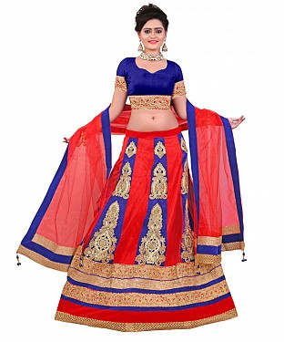 FANCY Blue LEHENGA@ Rs.1966.00
