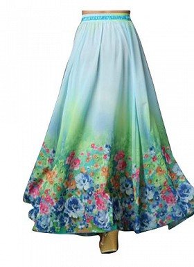Sky Blue Faux Geogette Digital Printed Exclusive Skirt For Women's @ Rs988.00