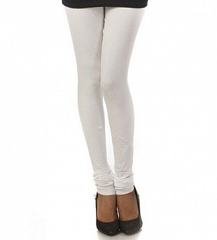 Cotton White Color Leggings @ Rs246.00