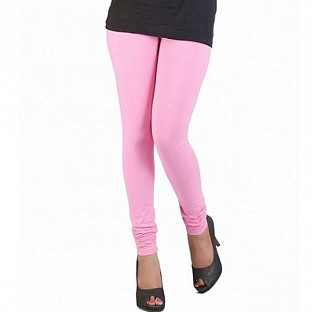 Cotton Light Pink Color Leggings @ Rs246.00