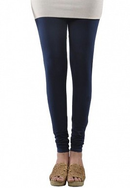 Cotton Dark Blue Color Leggings @ Rs246.00