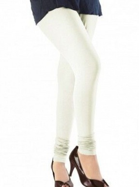 Cotton Off-White Color Leggings @ Rs246.00