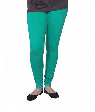Cotton Rama Green Color Leggings @ Rs246.00