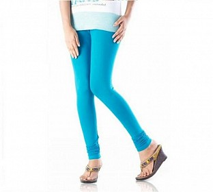 Cotton Sky Blue Color Leggings @ Rs246.00