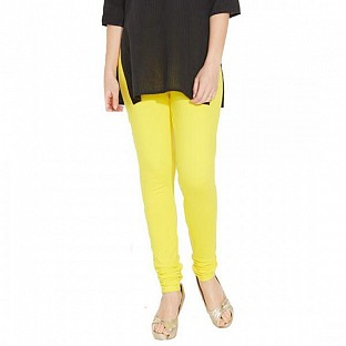 Cotton Light Yellow Color Leggings @ Rs246.00