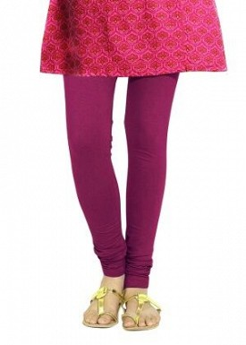 Cotton Dark Pink Color Leggings @ Rs246.00