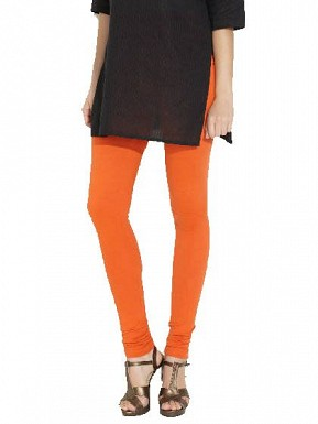 Cotton Orange Color Leggings @ Rs246.00