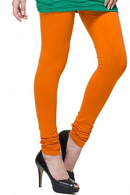 Cotton Dark Orange Color Leggings@ Rs.246.00