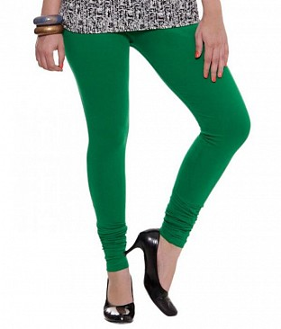 Cotton Dark Green Color Leggings @ Rs246.00