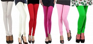 Cotton Leggings Combo Of 6 @ Rs1112.00