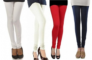 Cotton Leggings Combo Of 4 @ Rs790.00