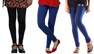 Cotton Black,Royal Blue and Blue Color Leggings Combo @ Rs617.00