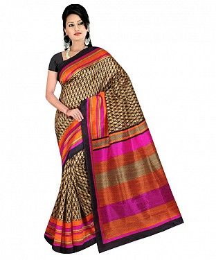 printed bhagalpuri saree with blouse piece@ Rs.494.00