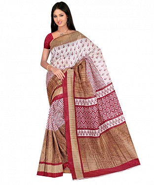 Multicolor printed bhagalpuri saree with blouse piece@ Rs.494.00