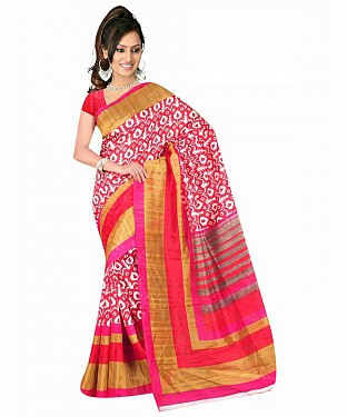 Red Color Bhagalpuri silk saree with blouse piece @ Rs494.00