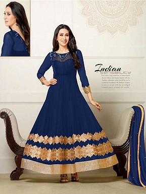 Fashionable New Salwar Suit - Navy Blue @ Rs1482.00