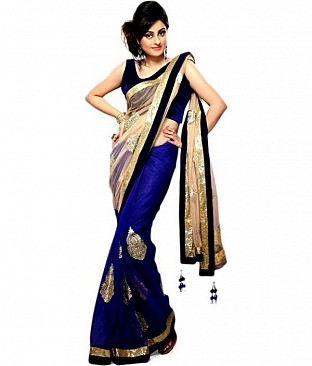 Embroidered Net Bollywood saree @ Rs581.00