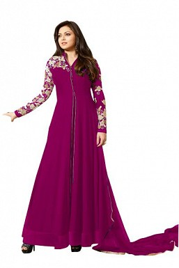 Designer Pink Pure Georgette Gown type salwar suit@ Rs.1595.00