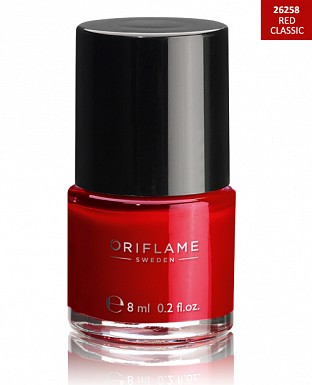 Oriflame Pure Colour Nail Polish - Red Classic 8ml@ Rs.227.00