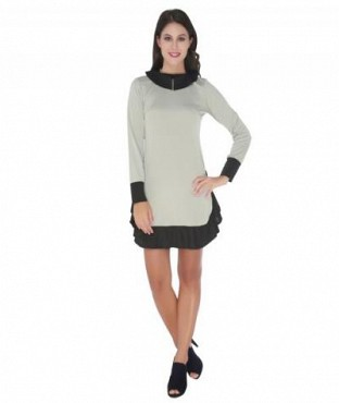 Elliana High On Grey And Black Skater @ Rs890.00