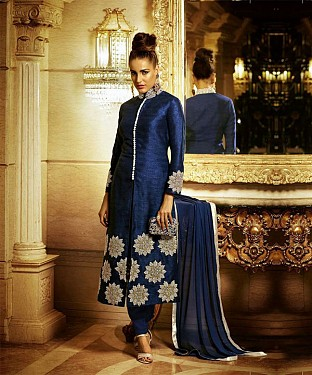 AWESOME NAVY BLUE COLLECTION SUIT @ Rs1014.00
