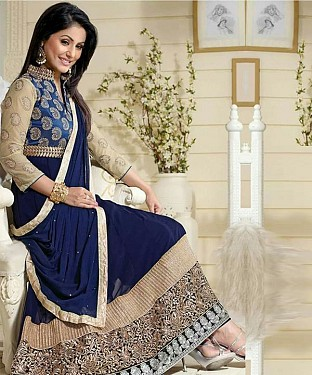 DESIGNER EMBROIDERED SUIT@ Rs.1051.00