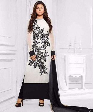 EMBROIDERED MADHUBALA SUIT@ Rs.1014.00