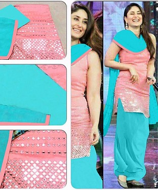 KAREENA KAPOOR BLUE PINK SUIT@ Rs.940.00