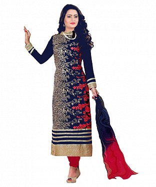 HEENA KHAN DESIGNER SUIT@ Rs.1014.00