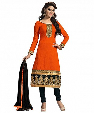 SUMMER DESIGNER  ORANGE SUIT @ Rs382.00