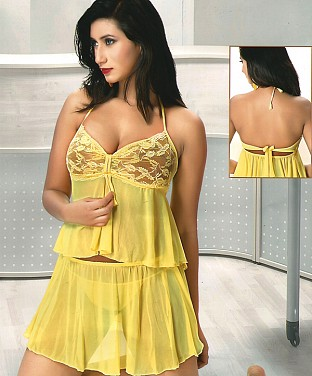 Baby Doll  Sexy Lingerie Sleepwear Dress Buy Rs.1010.00