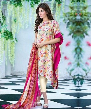 Unstitched Long Straight Pakistani printed suit@ Rs.1051.00